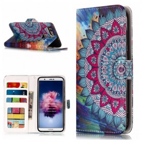 Huawei P Smart värikäs mandala suojakotelo