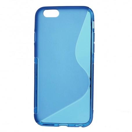 iPhone 6 sininen silikonisuojus.