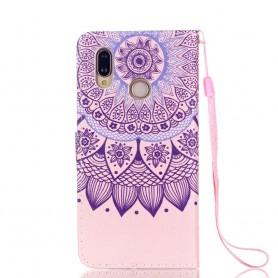 Huawei P20 Lite violetti mandala suojakotelo