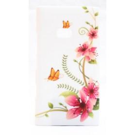 Lumia 900 suojakuori kukat ja perhoset