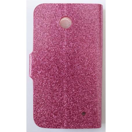 Lumia 630 pinkki glitter puhelinlompakko