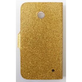 Lumia 630 kultainen glitter puhelinlompakko