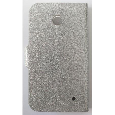 Lumia 630 hopeinen glitter puhelinlompakko
