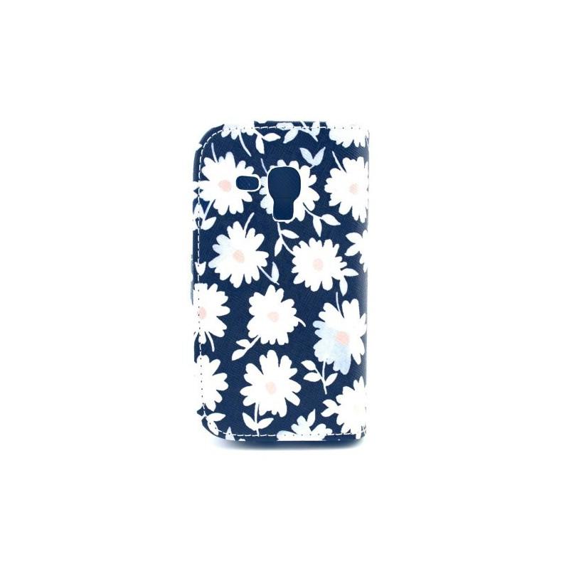 Galaxy Trend valkoiset kukat lompakkokotelo
