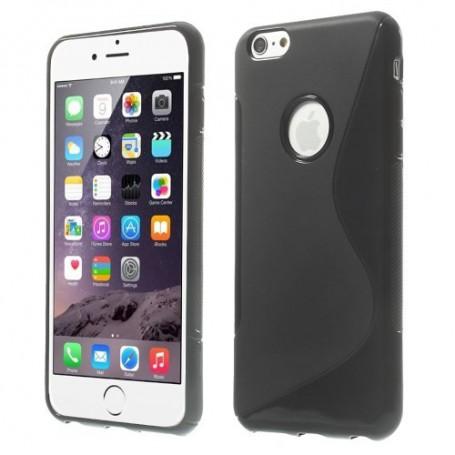 iPhone 6 plus musta silikonisuojus.