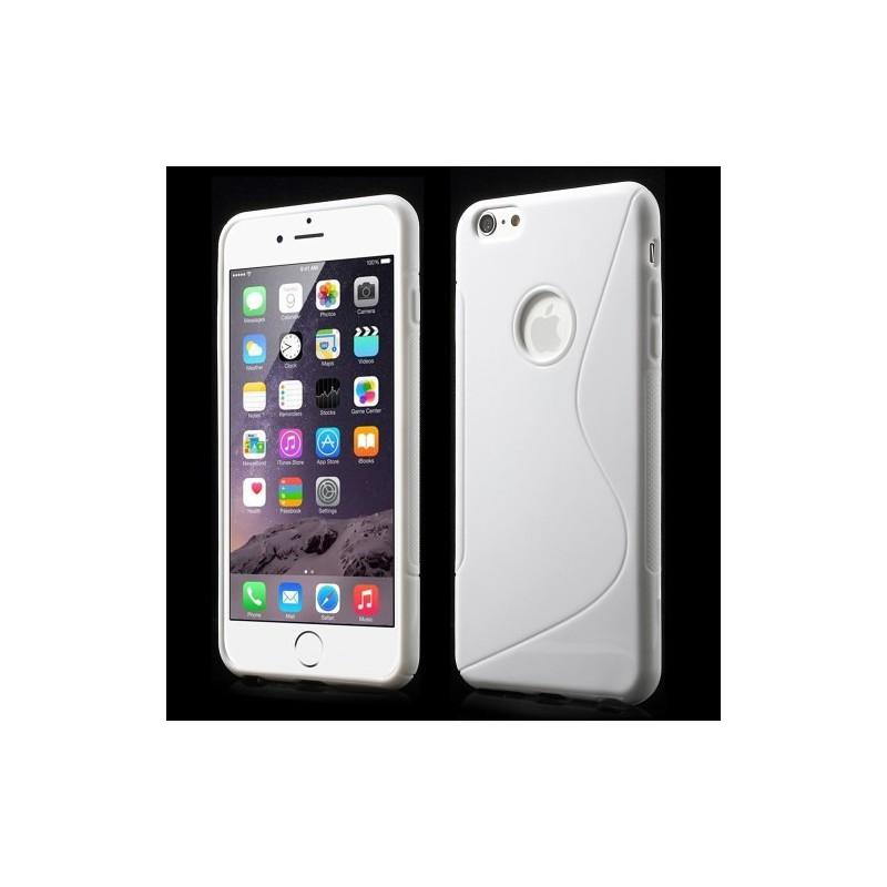 iPhone 6 plus valkoinen silikonisuojus.