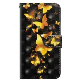 Nokia 3.1 (2018) kullanväriset perhoset suojakotelo