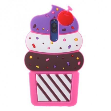 Huawei Mate 10 Lite pinkki jäätelö silikonisuojus.