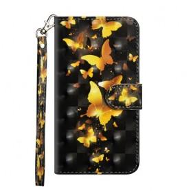 Huawei Honor 8X kullanväriset perhoset suojakotelo