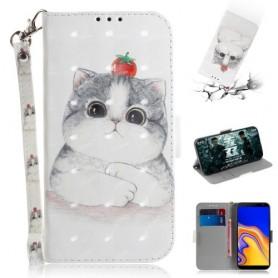 Samsung Galaxy J4 Plus kissa suojakotelo