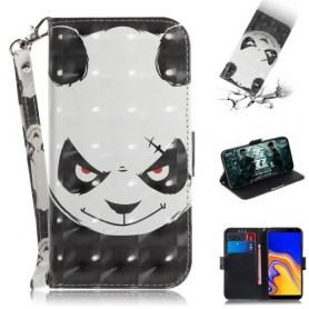 Samsung Galaxy J4 Plus vihainen panda suojakotelo