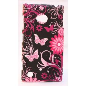 Nokia Lumia 720 kova suojakuori kukat ja perhoset.