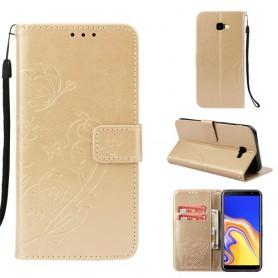 Samsung Galaxy J4 Plus kullanvärinen perhosia suojakotelo