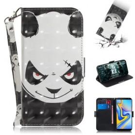 Samsung Galaxy J6 Plus vihainen panda suojakotelo