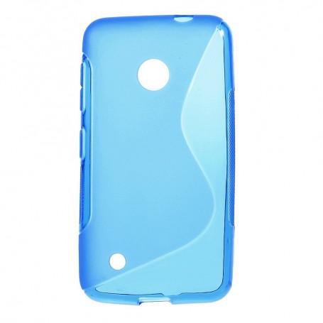 Lumia 530 sininen silikonisuojus.