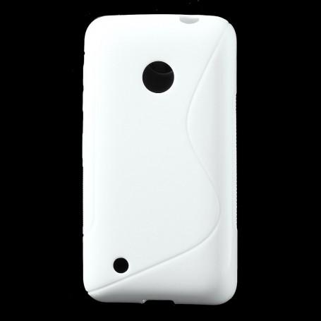 Lumia 530 valkoinen silikonisuojus.