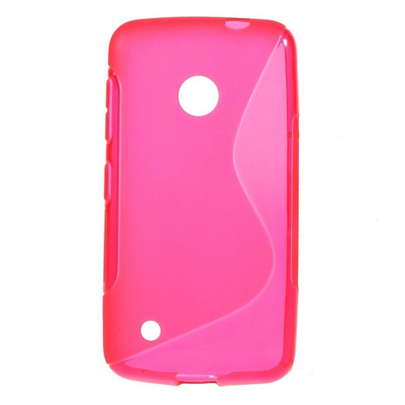 Lumia 530 roosan punainen silikonisuojus.