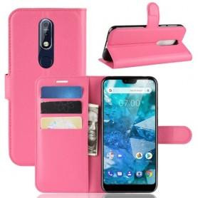 Nokia 7.1 (2018) pinkki suojakotelo