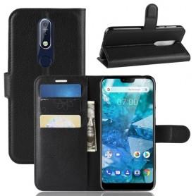 Nokia 7.1 (2018) musta suojakotelo