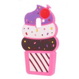 Samsung Galaxy J6 2018 pinkki jäätelö silikonisuojus.