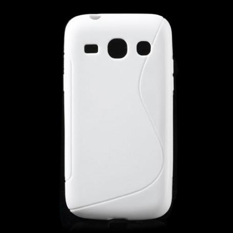 Galaxy Core Plus valkoinen silikonisuojus.