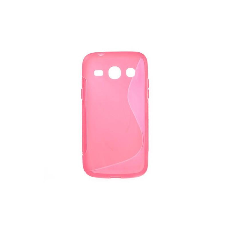 Galaxy Core Plus roosan punainen silikonisuojus.