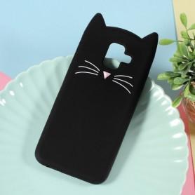 Samsung Galaxy A6 2018 musta kissa silikonikuori.