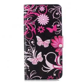 Huawei Nova 3 kukkia ja perhosia suojakotelo