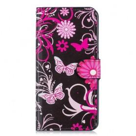 OnePlus 6T kukkia ja perhosia suojakotelo