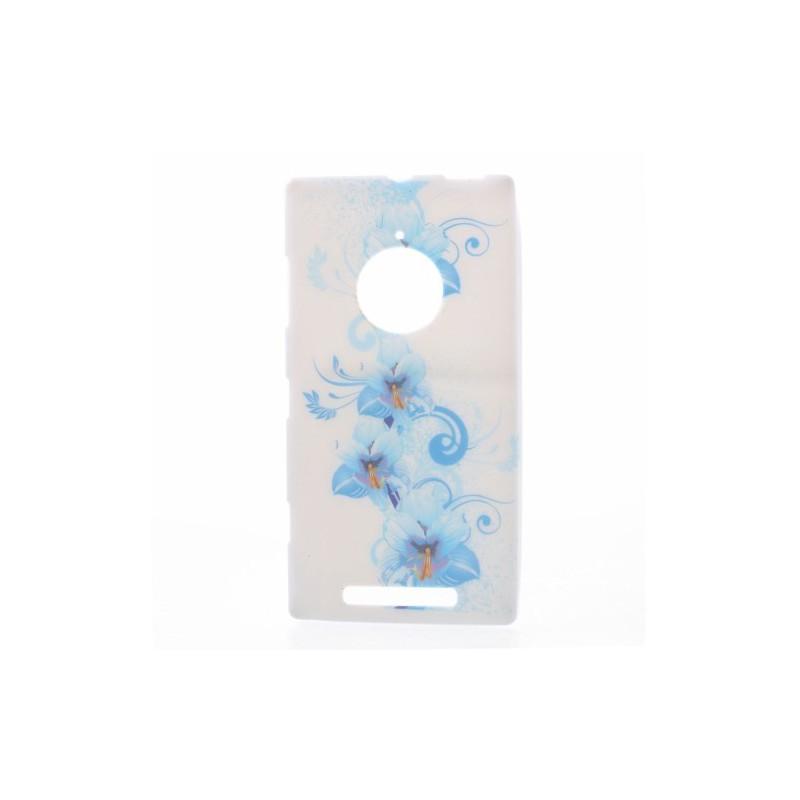 Lumia 830 vaaleansiniset kukat silikonisuojus.