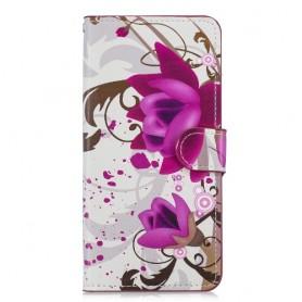 OnePlus 6T violetit kukat suojakotelo