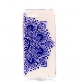 Huawei Honor 10 läpinäkyvä sininen mandala suojakuori.