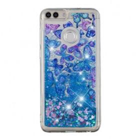 Huawei Honor 9 Lite siniset perhoset suojakuori.