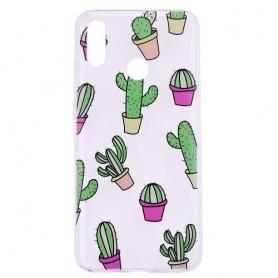 Huawei Honor 10 Lite läpinäkyvä kaktukset suojakuori.