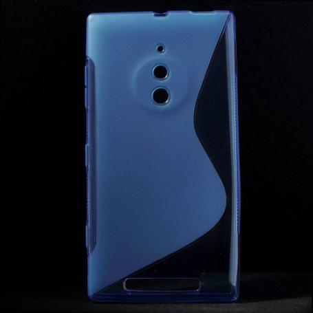 Lumia 830 sininen silikonisuojus.
