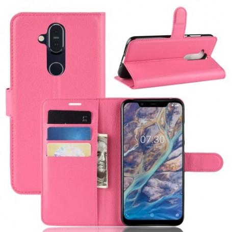 Nokia 8.1 pinkki suojakotelo
