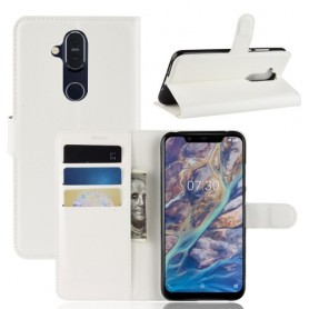 Nokia 8.1 valkoinen suojakotelo