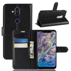 Nokia 8.1 musta suojakotelo