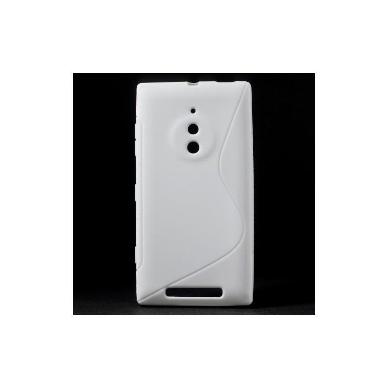 Lumia 830 valkoinen silikonisuojus.