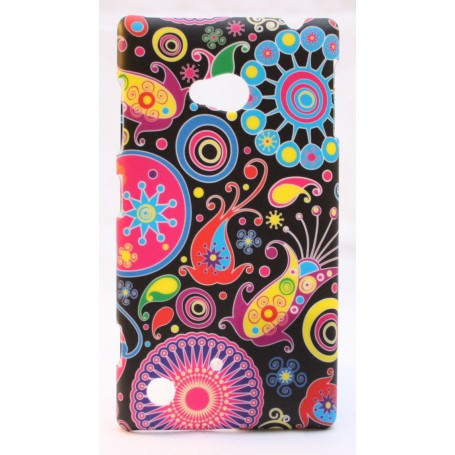 Nokia Lumia 720 kova suojakuori värikkäät kuviot.