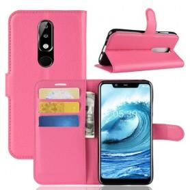 Nokia 5.1 Plus pinkki suojakotelo