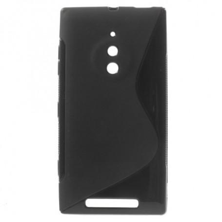 Lumia 830 musta silikonisuojus.