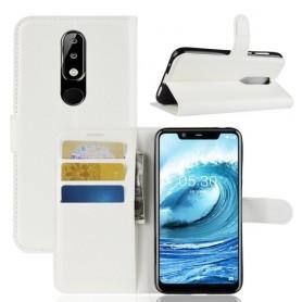 Nokia 5.1 Plus valkoinen suojakotelo