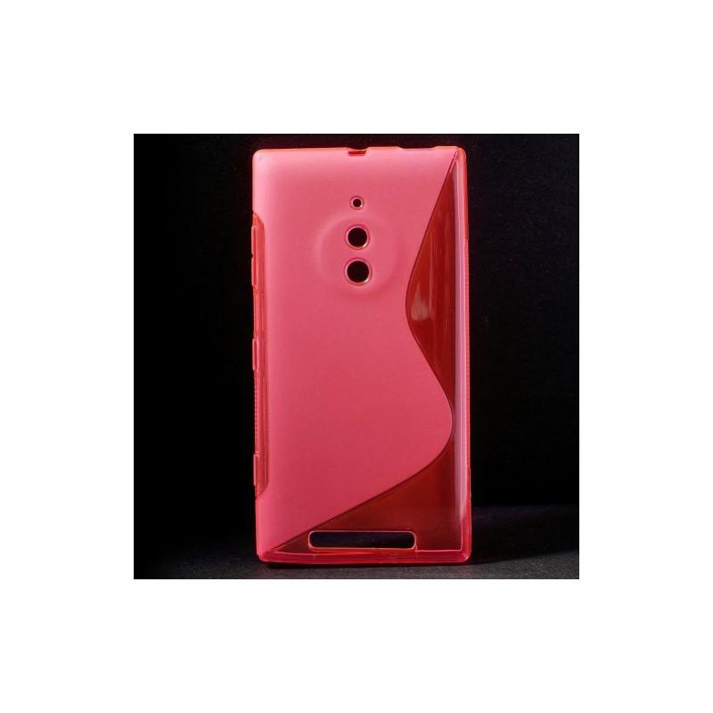 Lumia 830 roosan punainen silikonisuojus.