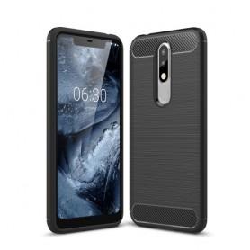 Nokia 5.1 Plus musta suojakuori