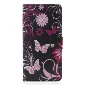 Apple iPhone XR kukkia ja perhosia suojakotelo
