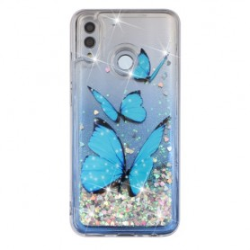 Huawei Honor 10 Lite glitter hile perhoset suojakuori.