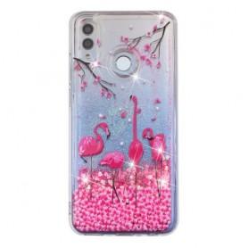 Huawei Honor 10 Lite glitter hile flamingot suojakuori.