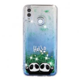 Huawei Honor 10 Lite glitter hile pandat suojakuori.