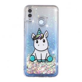 Huawei Honor 10 Lite glitter hile yksisarvinen suojakuori.